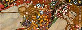 Gustav Klimt Water Serpents Detail painting